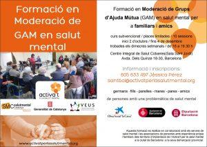 Formació moderació Grups d'Ajuda Mútua (GAM) en Salut Mental Centre Integral de Salut Cotxeres