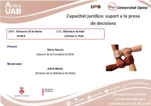 Capacitat jurídica: suport a la presa de decisions Biblioteca de Rubí
