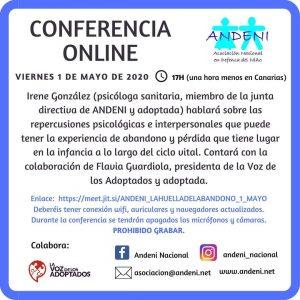Repercusiones psicológicas del abandono en la infancia. Conferencia online