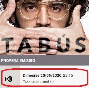 Trastorns mentals a TABÚS de TV3