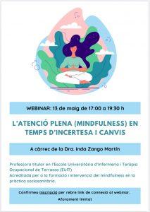 Mindfulness: l'atenció plena en temps d'incertesa i canvis. Webinar