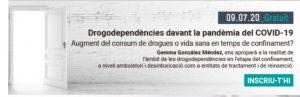 Webinar: Drogodependències davant la pandèmia del COVID-19