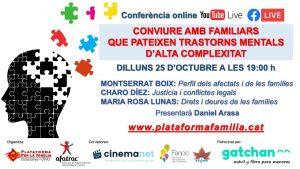 CONVIURE AMB FAMILIARS QUE PATEIXEN TRASTORNS MENTALS D'ALTA COMPLEXITAT Youtube, Facebook